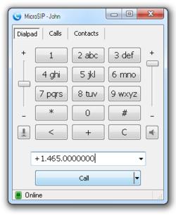 MicroSIP Screenshot