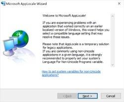 Microsoft AppLocale Screenshot