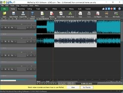 MixPad Audio Editor Screenshot