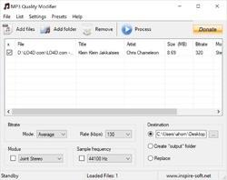 MP3 Quality Modifier Screenshot