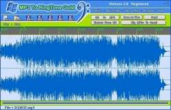 MP3 To Ringtone Gold Screenshot