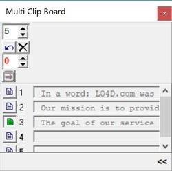 MultiClipBoard Screenshot