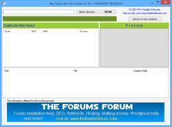 My Duplicate File Finder Screenshot