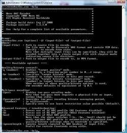 Nero AAC Codec Screenshot