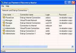 Network and Dial-up Password Revealer Screenshot
