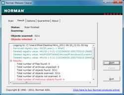Norman Malware Cleaner Screenshot