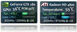 NVIDIA Gadget Screenshot