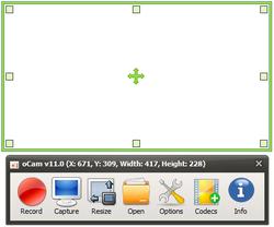 oCam Screenshot