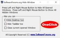 OneClick Hide Window Screenshot