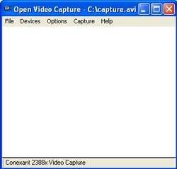 Open Video Capture Screenshot