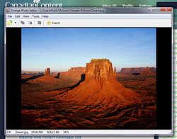 Orange Photo Editor Screenshot