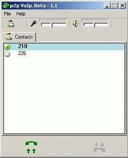 P2P VoIp Screenshot