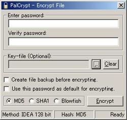 Palcrypt Screenshot