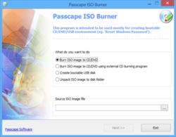 Passcape ISO Burner Screenshot