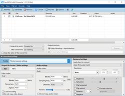 Pazera Free MOV to AVI Converter Screenshot