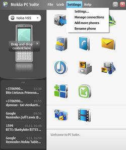 PC Suite Screenshot