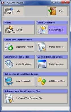 PDF OwnerGuard Personal Edition Screenshot