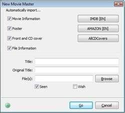 Personal Video Database Screenshot