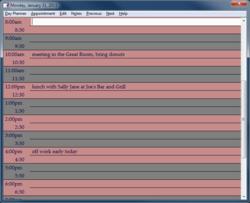 Pink Calendar and Day Planner Screenshot