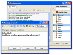 PopMessenger Screenshot
