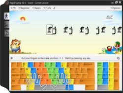Portable Rapid Typing Tutor Screenshot