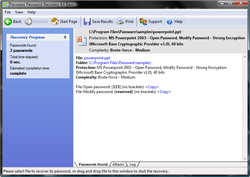 Powerpoint Password Recovery Key Screenshot