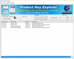 Product Key Explorer Screenshot