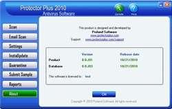 Protector Plus 2008 Antivirus Screenshot