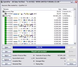 QuickPar Screenshot