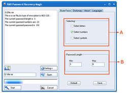 RAR Password Cracker Screenshot