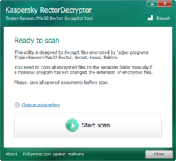 RectorDecryptor Screenshot