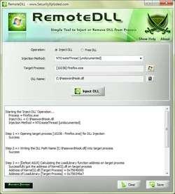 RemoteDLL Screenshot