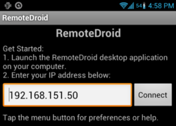 RemoteDroidServer Screenshot