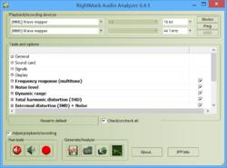 RightMark Audio Analyzer Screenshot