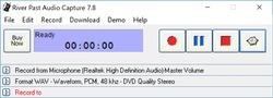 River Past Audio Capture Screenshot