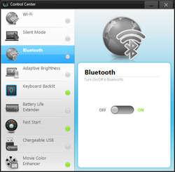 Samsung Control Center Screenshot