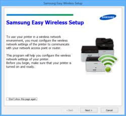 Samsung Easy Wireless Setup Screenshot