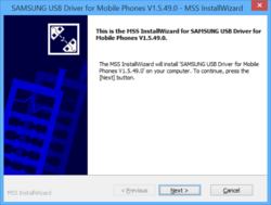 Samsung USB Driver for Mobile Phones Screenshot