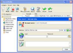 SecureWallet Screenshot