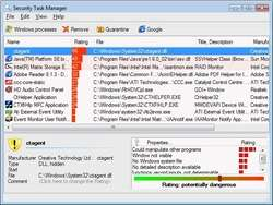 Security Task Manager Screenshot