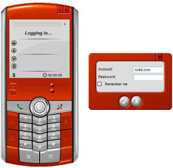 SoftPhone Client Screenshot