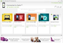 Sony Ericsson PC Companion Screenshot
