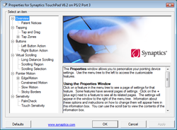 Synaptics Pointing Device Driver Screenshot