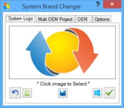 System Brand Changer Screenshot