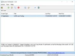 System Scheduler Free Screenshot