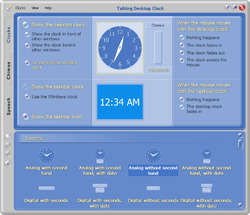 Talking Desktop Clock Screenshot