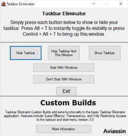 Taskbar Eliminator Screenshot
