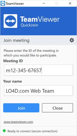 TeamViewer QuickJoin Screenshot