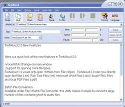 TextAloud Screenshot