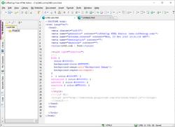 The Free HTML Editor Screenshot